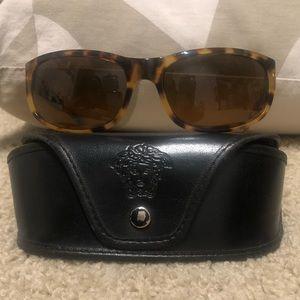 Versace Womens Tortoise Sunglasses